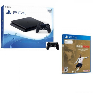 SONY PS4 500GB+DS4+PES 19 Beckham EDT