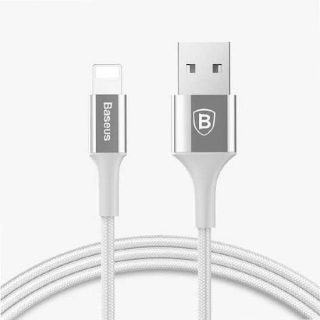 USB data kabal BASEUS SHINING za Iphone lightning 1m srebrni