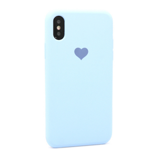 Futrola Heart za Iphone X/Iphone XS svetlo plava