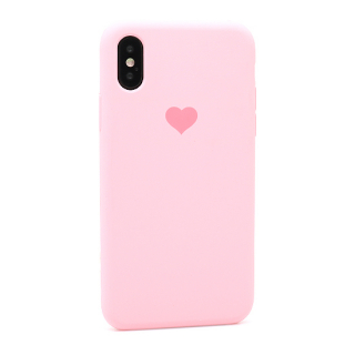 Futrola Heart za Iphone X/Iphone XS roze