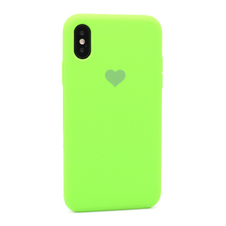 Futrola Heart za Iphone X/Iphone XS zelena