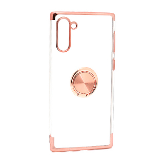 Futrola MAGNETIC RING CLEAR za Samsung N970F Galaxy Note 10 roze