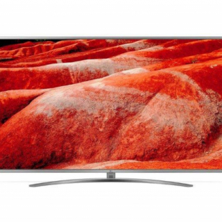 LG 82UM7600PLB LED TV 82 Ultra HD, WebOS ThinQ AI, Steel Silver, Crescent stand, Magic remote