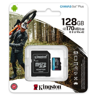 Kingston Canvas Go Plus (SDCG3/128GB) memorijska kartica microSDXC 128GB class 10+adapter