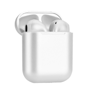 Slusalice Bluetooth Airpods InPods 12 metalic bela